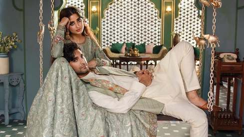 Inside Ahad and Sajal's first dreamy photoshoot as a married couple