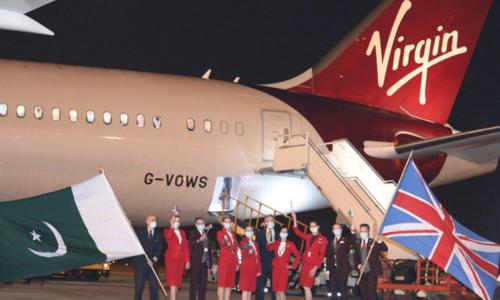 'Historic moment': First Virgin Atlantic flight lands in Pakistan