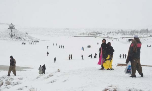 Snowfall reported from Quetta, other Balochistan areas