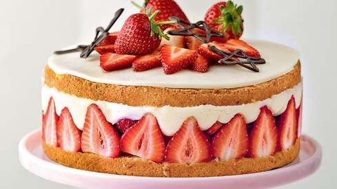 Make use of strawberry season and try this recipe for a patisserie-perfect Fraisier cake
