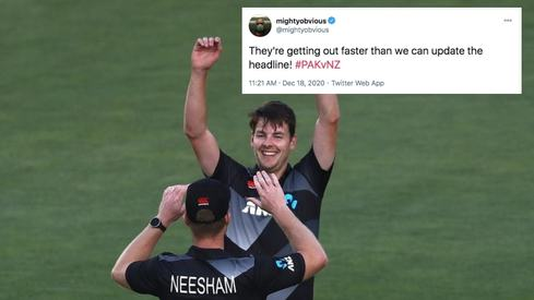 Wickets tumble, Pakistanis crumble: Twitterati react to Pakistan's first innings against New Zealand