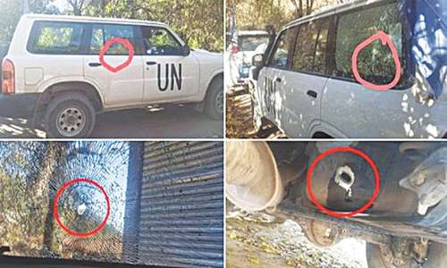 Observers from UN escape 'targeted' Indian attack