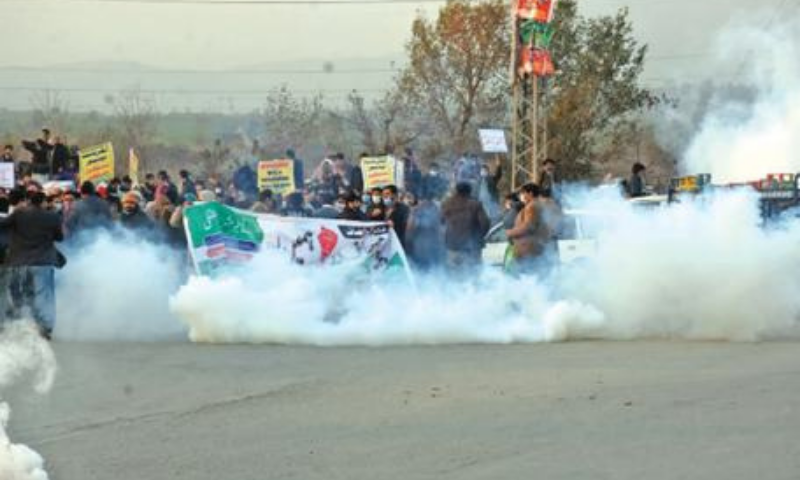 Tear gas fired on teachers going to PM's house