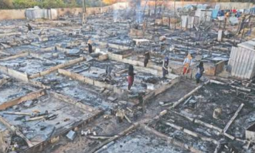 Syrian refugee camp burnt to ground in Lebanon