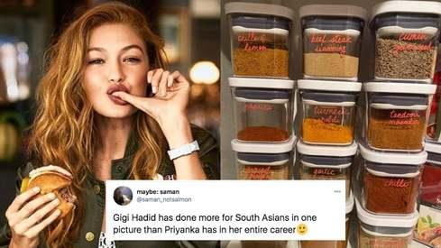 Gigi Hadid is a fan of using Shan masala so naturally desi Twitter is losing it