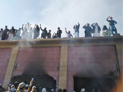 Karak villagers vandalise shrine of Hindu saint