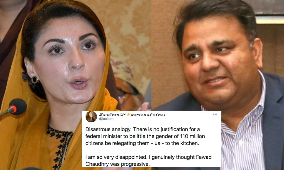 Fawad Chaudhry, women don't need to 'run a kitchen' to be able to run a country