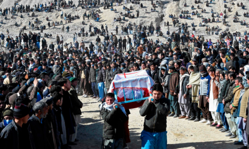 Slain miners laid to rest in Quetta's Hazara Town