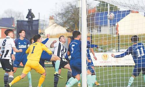 Non-league Chorley shock Covid-hit Derby in FA Cup