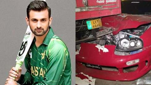 Shoaib Malik unhurt after car accident in Lahore
