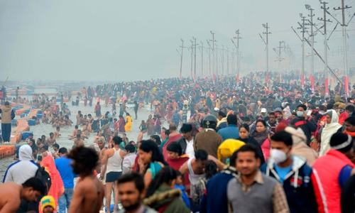 In pictures: Coronavirus fails to deter India's massive Ganges pilgrimage