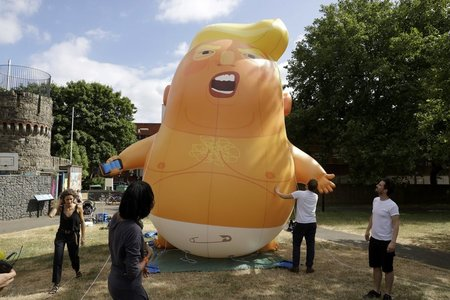 Trump might be leaving the White House but his 'baby blimp' has found a home in Museum of London