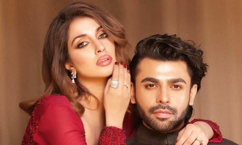 فرحان سعید کا 'ٹچ بٹن' ہیروئن ایمان علی کے ساتھ فوٹو شوٹ وائرل