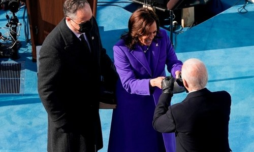 In pictures: Top moments from the Biden-Harris swearing-in ceremony