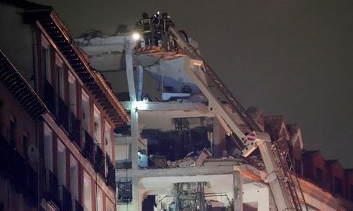 Three die as gas blast rocks Madrid