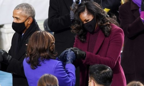Why were Kamala Harris, Michelle Obama and Hillary Clinton wearing shades of purple at the inauguration