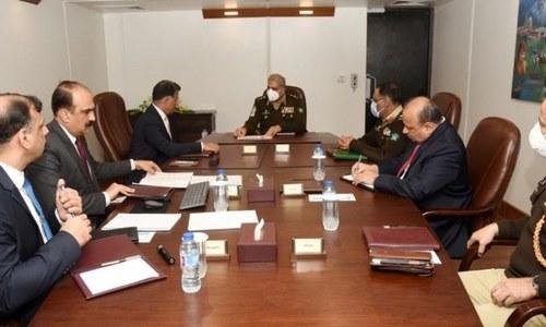 آرمی چیف کا آئی ایس آئی ہیڈ کوارٹرز کا دورہ، سیکیورٹی پر بریفنگ