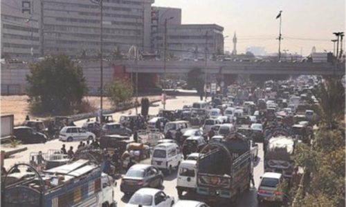 Security for cricket match at NSK causing traffic nightmare for Karachiites