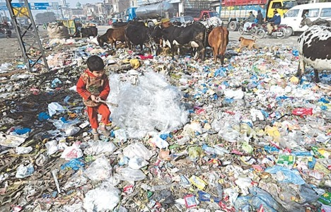 Garbage as far as the eye can see as Lahore sinks in its own waste