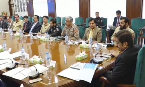 سندھ اپیکس کمیٹی کا اجلاس: 'چند گروپس پڑوسی ملک کی حمایت سے مسائل پیدا کرنا چاپتے ہیں'