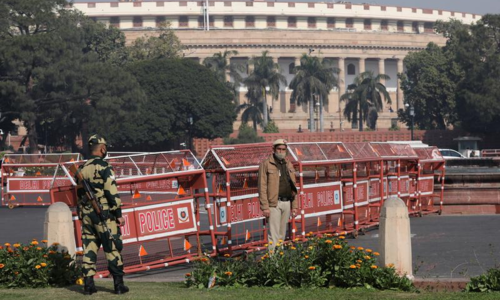 Indian police block roads into Delhi to stop farmers disrupting budget day