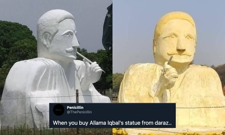 The story behind Allama Iqbal's statue in Lahore that has Twitter riled up