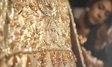 Designer Wardha Saleem on incorporating elements of Sindh into Bakhtawar's ivory and gold bridal dress