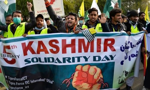 In pictures: Pakistanis come together to mark Kashmir Solidarity Day with rallies, marches