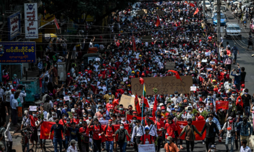 'This is for our future': Tens of thousands protest Myanmar coup for second day