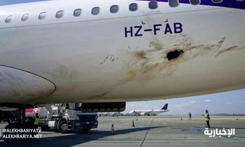 Yemen rebel attack on Saudi airport sets plane on fire