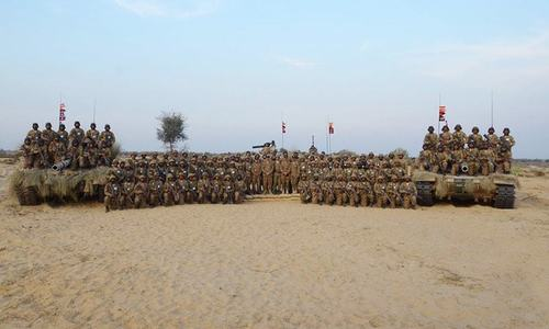 Army holding war games to validate concept of defence in desert: ISPR