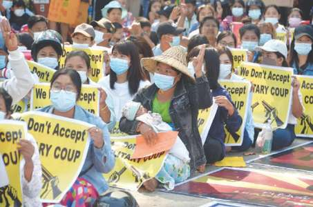 Myanmar rattled by army actions; anti-coup protests continue