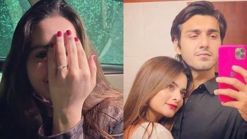 Minal Khan gets engaged to beau Ahsan Mohsin Ikram