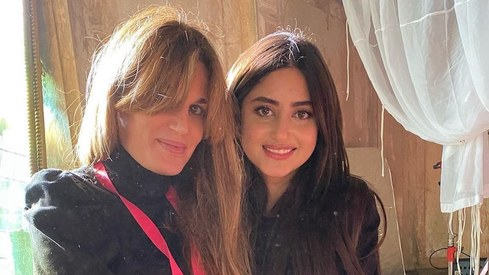 Jemima Goldsmith, Sajal Ali post pictures from set of What's Love Got To Do With It?