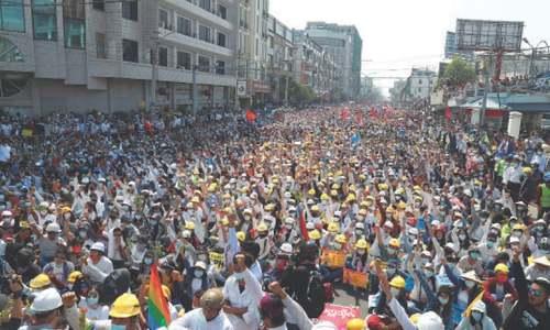 Protesters defy Myanmar junta, hold rallies