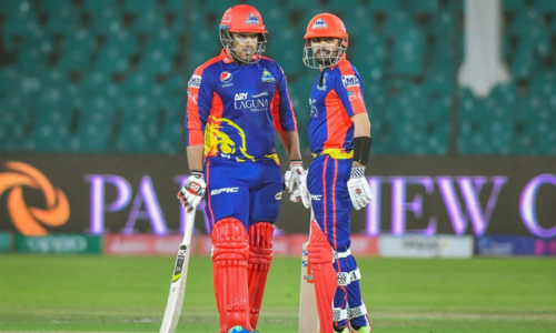 Karachi Kings 84-0 at end of 10 overs in match against Islamabad United