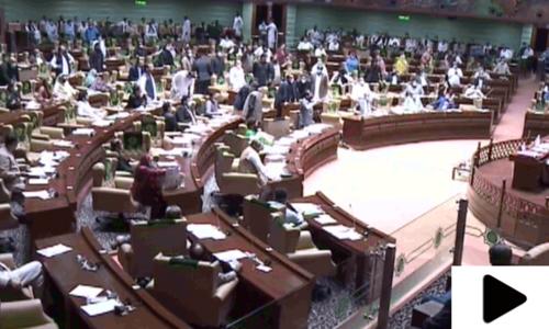 حلیم عادل شیخ کی تقریر کے دوران سندھ اسمبلی میں شدید ہنگامہ
