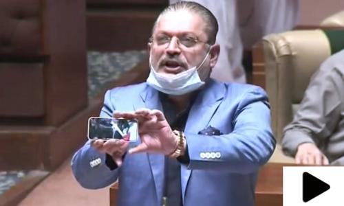 شرجیل میمن کی تقریر کے دوران سندھ اسمبلی میں شور شرابا