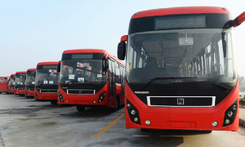 Two-corridor Red Line bus project to be launched in Karachi this month