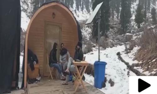 سوات میں سیاحوں کے لیے کیمپنگ پوڈز کی سہولت