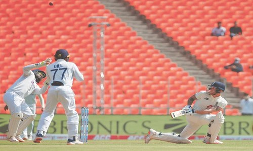 Ashwin, Patel spin England out for 205