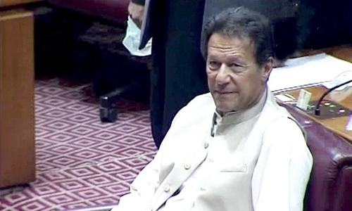 PM Imran addresses National Assembly after securing trust vote