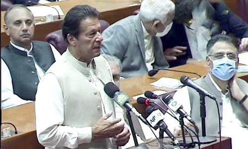 'I thank you': PM Imran addresses NA after securing trust vote