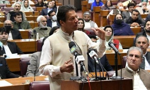 'I thank you,' says PM Imran after securing vote of confidence from NA