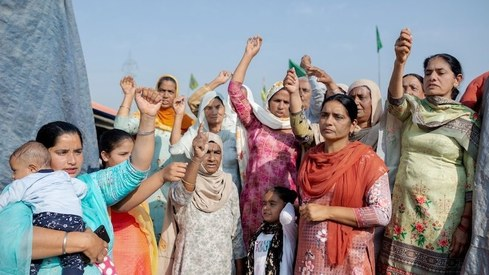 TIME features the women leading the Indian farmers' protests on its cover