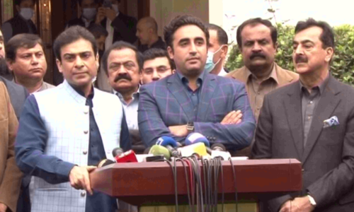 After meeting Hamza, Bilawal expresses confidence PDM will win Senate chairman election