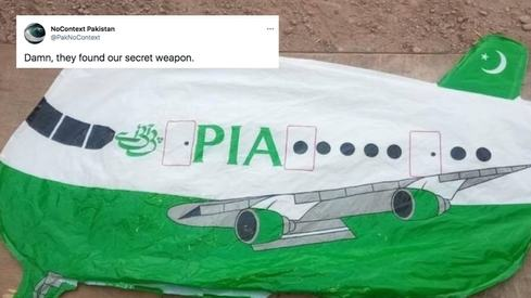 India takes PIA balloon into custody and Twitter can't handle it