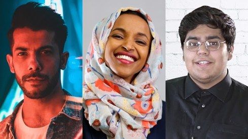 Shamoon Ismail and Abdullah Siddiqui featured on Ilhan Omar's Muslim Vibes Spotify playlist