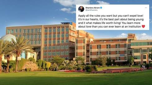 University of Lahore expels students for hugging on campus