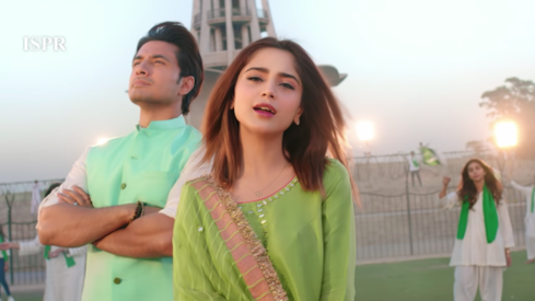 Ali Zafar and Aima Baig star in the ISPR's new Pakistan Day song